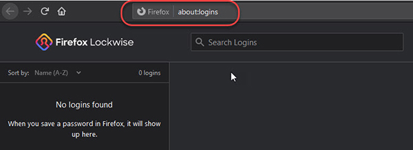 Image showing address bar in the Firefox browser