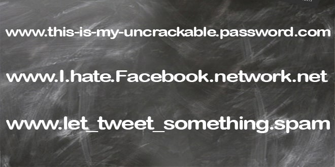 Example of a URL password.