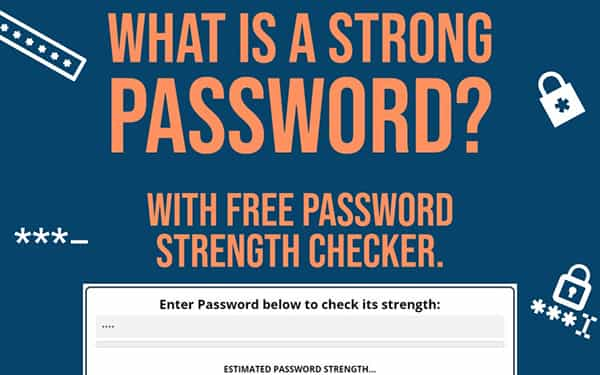 What is a strong password.